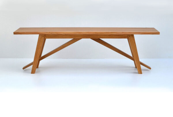 Kitchen bench with angled legs