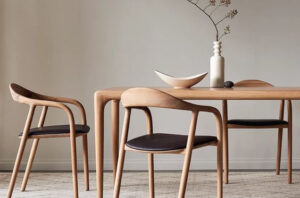 Scandinavian style dining table image from Pinterest