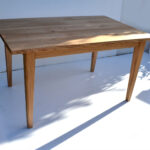 Simple oak dining table