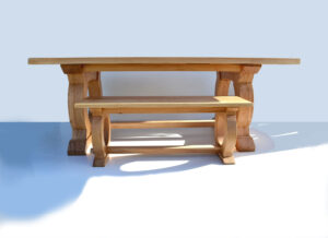 Curved Base table and bench