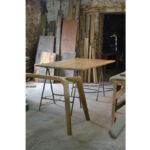 Bespoke table in progress in the workshop