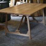 Campaign style dining table