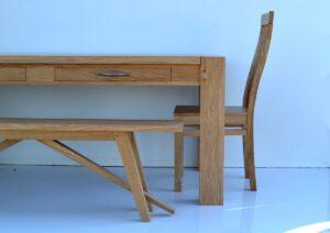 Chaises et bancs artisanale en chene sur mesure
