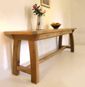 Tables consoles d'entree artisanale sur mesure